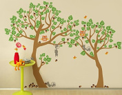 "Pop Decors ""Lovely Pine Tree"" Nursery Vinyl Wall Stickers for Kids Play Rooms"