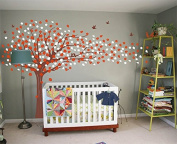 """Pop Decors """"Sakura/Flying Flowers Tree"""" Wall Stickers For Girl Baby Rooms"""