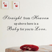 """Pop Decors """"Here is a baby for you to love"""" Wall Stickers"""