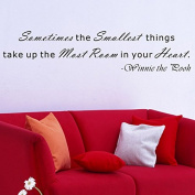 """Pop Decors """"Sometimes the smallest things take up the most room-Winnie The Pooh"""" Wall Stickers"""