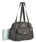 Little Me Quited Heart Satchel Nappy Bag, Grey