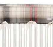 Glenna Jean Fly-By Crib Rail Protector Short Set, Plaid