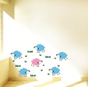 "Pop Decors ""A Group of Sheep"" Beautiful Wall Stickers for Kids Rooms"