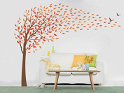 """Pop Decors """"Flying in the wind"""" Beautiful Wall Stickers for Kids Rooms"""