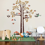 """Pop Decors """"Shelving Tree"""" Wall Stickers for Kids Play Room"""
