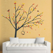 "Pop Decors ""Spring Tree/Reed Flowers"" Beautiful Wall Stickers for Kids Rooms"