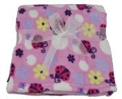 Little Beginnings LadyBug Soft Fleece Baby Blanket Pink