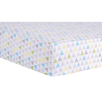 Trend Lab Triangles Multicoloured Fitted Crib Sheet