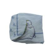 Truly Scrumptious by Heidi Klum Dinosaur Tracks Fitted Crib Sheet Blue