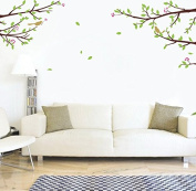 """Pop Decors """"Elegant Tree Branch with Birds"""" Beautiful Wall Stickers for Kids Rooms"""