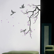 """Pop Decors """"Cherry Blossom Branch"""" Wall Art Stickers for Kids Living/Bedroom"""