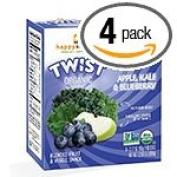 Happy Family Brands Happy Squeeze Apple, Kale & Blueberry Fruit & Veggie Twist 4 (100ml) pouches