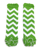 Rush Dance Green White Chevron Ruffles St Patrick's Day Baby/ Toddler Leg Warmer