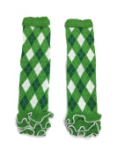 Rush Dance Green White Argyle Ruffles St Patrick's Day Baby/ Toddler Leg Warmer