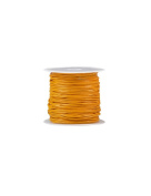 FreshHear 10m Leather Cord Colour Papaya Yellow Size 1x1mm