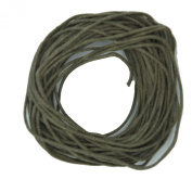 Waxed Cotton Cord Bone 1mm Made in USA