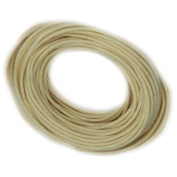 Waxed Cotton Cord Natural 2mm Made in USA