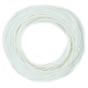 Waxed Cotton Cord White 1mm Made in USA