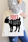 Totes Ma Goats Tote Bag in Natural Colour