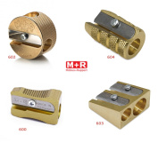Mobius + Ruppert (M+R) Brass Artists Pencil Sharpener - choose from 4 shapes! Made in Germany - finest in the world!