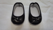 Baby Doll Pretend Play Black Casual Strap Doll Shoe, Assorted Styles and Colours