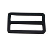 Amanaote Black 3.8cm x 1.9cm Inner Dimension Rectangle Buckle for Strap Pack of 6