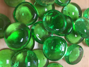 Sun and Moon Glass Gems/ GREEN Glass Gems, Medium