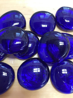 Sun and Moon Glass Gems/ DEEP BLUE Glass Gems, Large