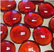 Sun and Moon Glass Gems/ Orange Red/ Lg, 0.9kg