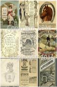 Assorted Vintage Ephemera Vintage Label Images #4 on Collage Sheet for Photo Art, Scrapbooking, Collage, Decoupage