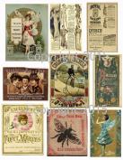 Assorted Vintage Ephemera Vintage Label Images #1 on Collage Sheet for Photo Art, Scrapbooking, Collage, Decoupage