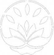 Gourmet Rubber Stamps Stencil 15cm x 15cm -Happy Lotus