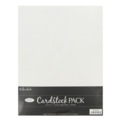 Paper Studio White 8.5x11 Cardstock Scrapbooking Paper Pack 50 Sheets