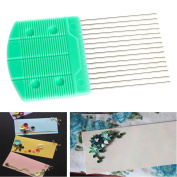 Kangnice Hot Paper Quilling Comb Tool Paper Craft Tool Creat Loops Accessory Supply