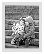 4x6 Silver Picture Frame - Made to Display Pictures 4x6 - Real Glass - Standing Hardware Included
