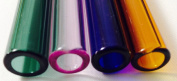 """NEW 12 mm OD 8mm ID Pyrex Glass Blowing 4 Colour Blue,Amber,Green,Pink 8"""""""