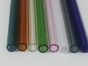 8 Inch 12mm OD 8 Piece 8 Colours Pyrex Glass Blowing Tubes Thick Wall Tubing