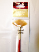Plaid Paint Brushes Essentials Gold Nylon 1 Fan 42718