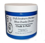 Chalk It Paint Finish for furniture, Art, Crafts, and More! Blue Suede Shoes 240ml