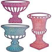 Cheery Lynn Designs B665 Fancy Pots Scrapbooking Embellishments
