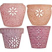 Cheery Lynn Designs B667 Flower Pots Scrapbooking Embellishments