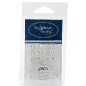 Technique Tuesday Clear Stamps 5.1cm x 6.4cm -Calendar - Years