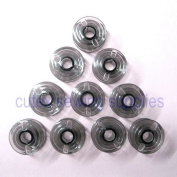Cutex Brand Pack of 10 Plastic Bobbins for Elna Babylock Sewing Machines #493555
