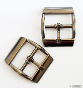 XH26884 Metal Dark Copper Tone Shoe Boots Handbag Buckles 2cm with Slider Bar - Pack of 5 Pairs
