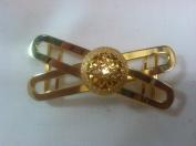 Designer Belt Buckle Plated 14 kt. Gold Polished 0.3m Inch Bow Buc1