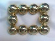 Designer Belt Buckle Plated 14 kt. Gold Polished 5.1cm Inch Ball Buc1