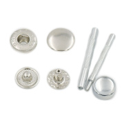 """100 Sets 12mm 1/2"""" Metal Snap Fastener Leather Craft Rapid Rivet Button Setting Sewing Tool Nickle"""