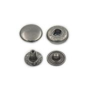 "100 Sets 15mm 5/8"" Metal Snap Fastener Leather Craft Rapid Rivet Button Setting Sewing Gun Black"