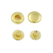 """100 Sets 10mm 3/8"""" Metal Snap Fastener Leather Craft Rapid Rivet Button Setting Sewing Gold"""