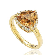 Suzy Levian Goldplated Sterling Silver Brown Cubic Zirconia Ring